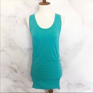 Calia | Teal Ruched Seamless Tank Top